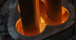 Smelting is successfully underway at the new thyssenkrupp Steel ladle furnace in Duisburg. © thyssenkrupp Steel Europe AG